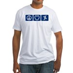 Peace Love Climb Fitted T-Shirt