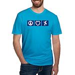 Peace Love Climb Men's Fitted T-Shirt (dark)