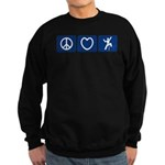 Peace Love Climb Sweatshirt (dark)