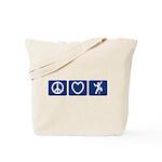 Peace Love Climb Tote Bag