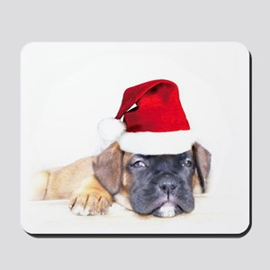 Christmas Boxer Puppy Mousepad