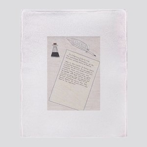 Declaration of Independence Throw Blanket