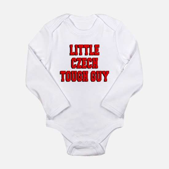 Little Czech Tough Guy Long Sleeve Infant Bodysuit