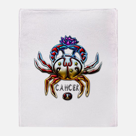 Cancer Zodiac Sign Art Throw Blanket
