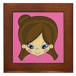 Adorably Cute Little Girl Framed Tile