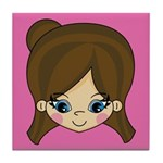 Adorably Cute Little Girl Tile Coaster