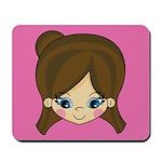 Adorably Cute Little Girl Mousepad