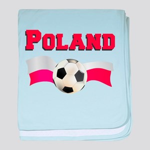 Little Polish Football Fan baby blanket