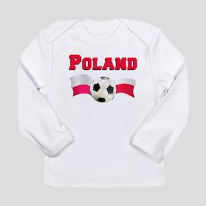Little Polish Football Fan Long Sleeve Infant T-Sh