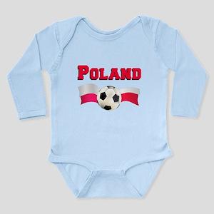 Little Polish Football Fan Long Sleeve Infant Body