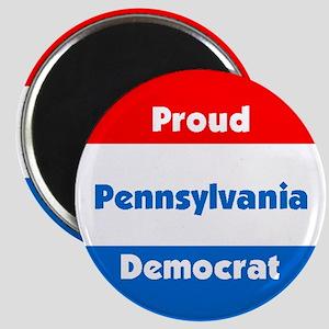 Pennsylvania Proud Democrat Magnet