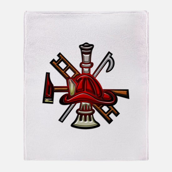 Throw Blanket Firefighter Graphic Symbols Tools