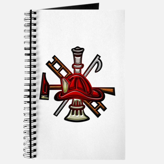 Journal Firefighter Graphic Symbols Showing Tools