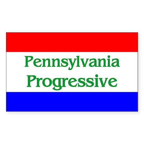 Pennsylvania Progressive Rectangle Sticker