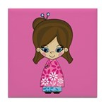 Cute Little Girl Tile Coaster