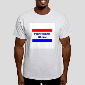 Pennsylvania Liberal Ash Grey T-Shirt