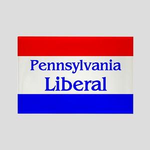 Pennsylvania Liberal Rectangle Magnet
