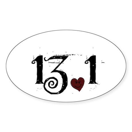 13.1 Smirk Sticker (Oval)