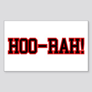 HOO RAH Sticker (Rectangle 10 pk)
