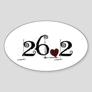 26.2 Smirk Sticker (Oval)