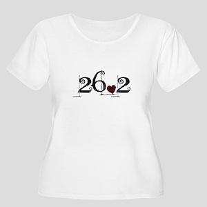 26.2 Smirk Women's Plus Size Scoop Neck T-Shirt