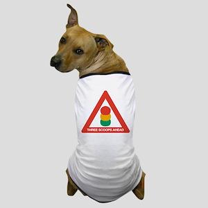 Three Scoops Ahead Dog T-Shirt