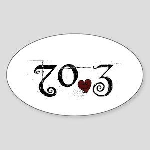 70.3 Smirk Sticker (Oval)