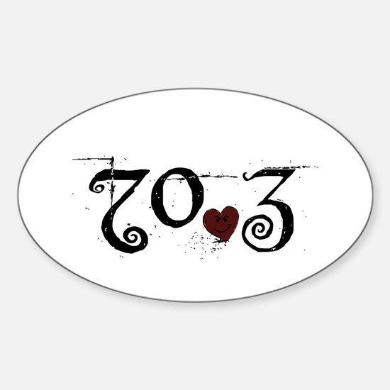 70.3 Smirk Sticker (Oval)