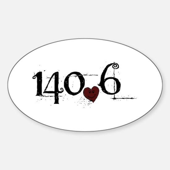 140.6 Smirk Sticker (Oval)