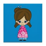 Cute Little Geisha Girl Tile Coaster