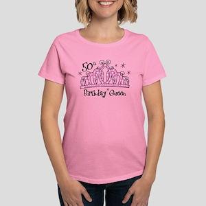 Tiara 50th Birthday Queen Women's Dark T-Shirt