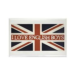 I Love English Boys Rectangle Magnet