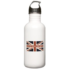 I Love English Boys Water Bottle