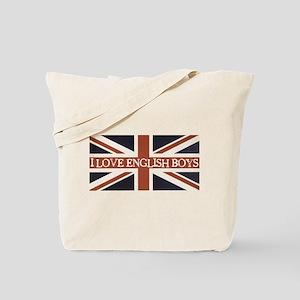 I Love English Boys Tote Bag