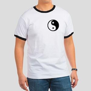 Black Yin Yang Ringer T