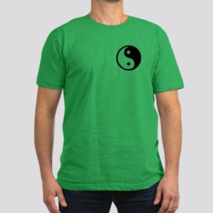 Black Yin Yang Men's Fitted T-Shirt (dark)
