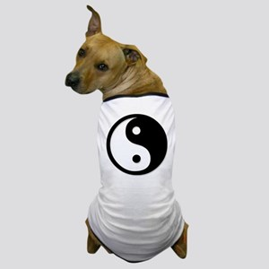 Black Yin Yang Dog T-Shirt