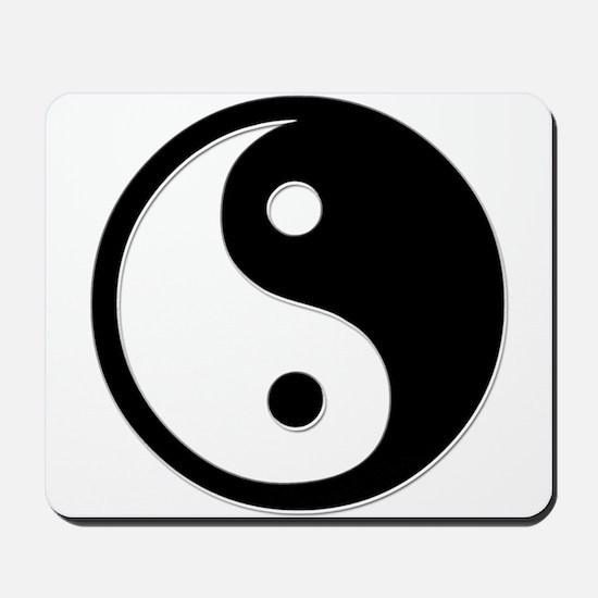 Black Yin Yang Mousepad