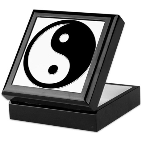 Black Yin Yang Keepsake Box