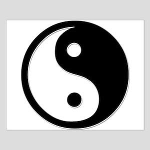 Black Yin Yang Small Poster