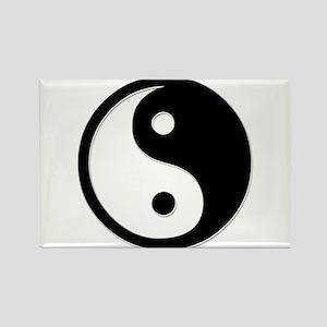 Black Yin Yang Rectangle Magnet