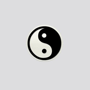 Black Yin Yang Mini Button