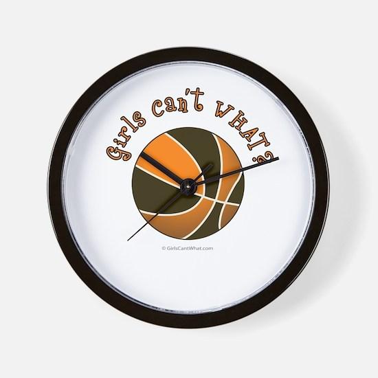 Black/Orange Basketball Wall Clock