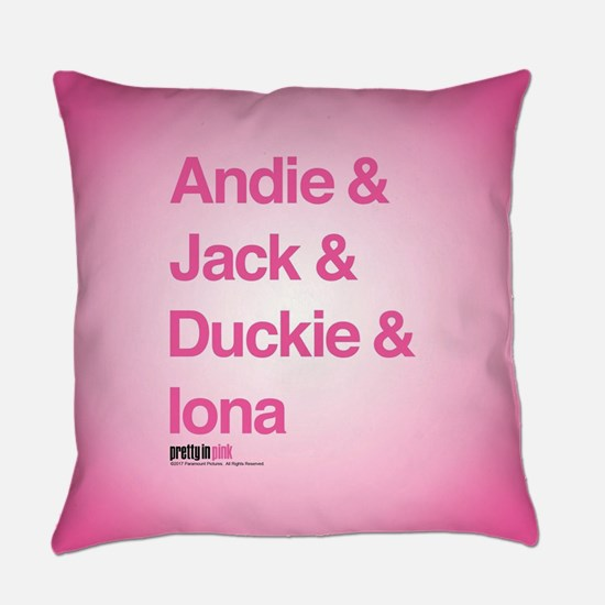 Pretty in Pink: Character Names Everyday Pillow