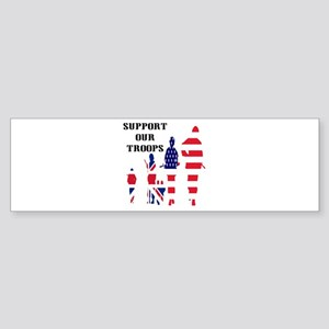 Support Our Troops USA UK Bumper Sticker