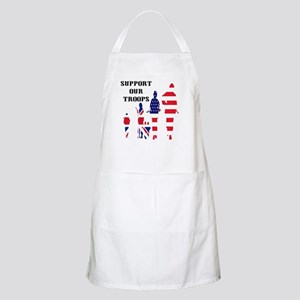 Support Our Troops USA UK BBQ Apron