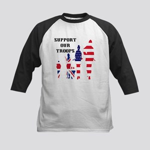 Support Our Troops USA UK Kids Baseball Jersey