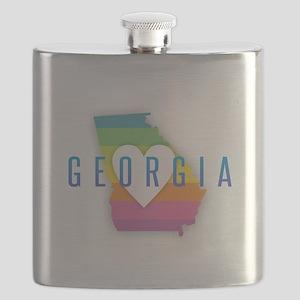 Georgia Heart Rainbow Flask