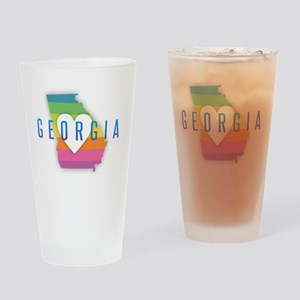 Georgia Heart Rainbow Drinking Glass