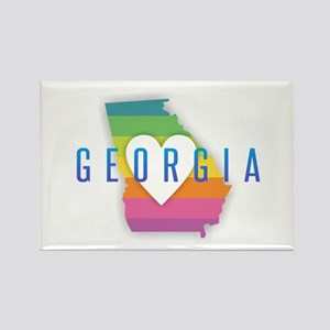 Georgia Heart Rainbow Magnets